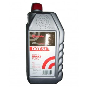 Жидкость тормозная (1 литр) DOT 5.1 Brembo L05010
