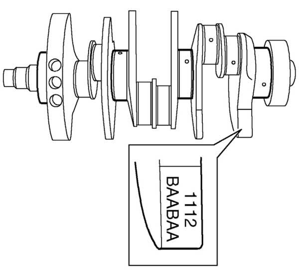 Двигатель KV6 буквенные коды на противовесе коленвала